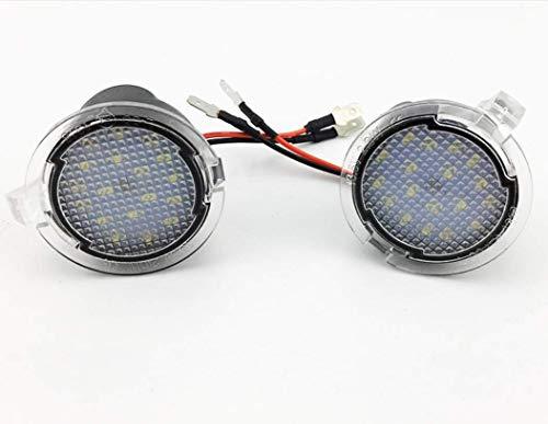 2x TOP LED XENON Umfeldbeleuchtung Aussenspiegel Leuchte Umgebungslicht WEIß (7909 Rund)