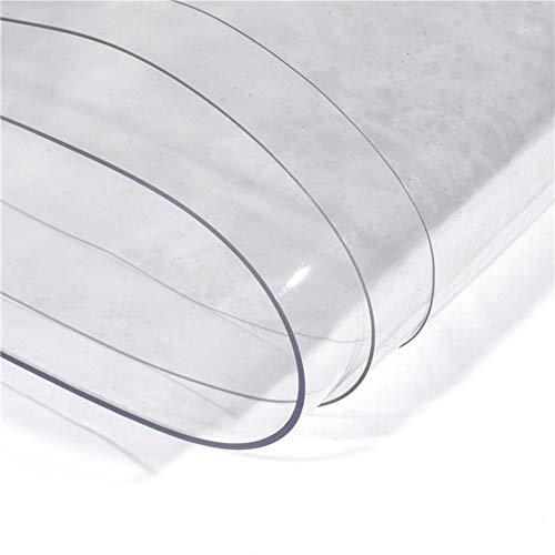 QIANGDA Bâche De Protection Paillage À Toute Épreuve Épaissir Plastique Imperméable avec Oeillet Couvercle De Protection pour Une Utilisation en Extérieur, Transparent (Taille : 2x8m)
