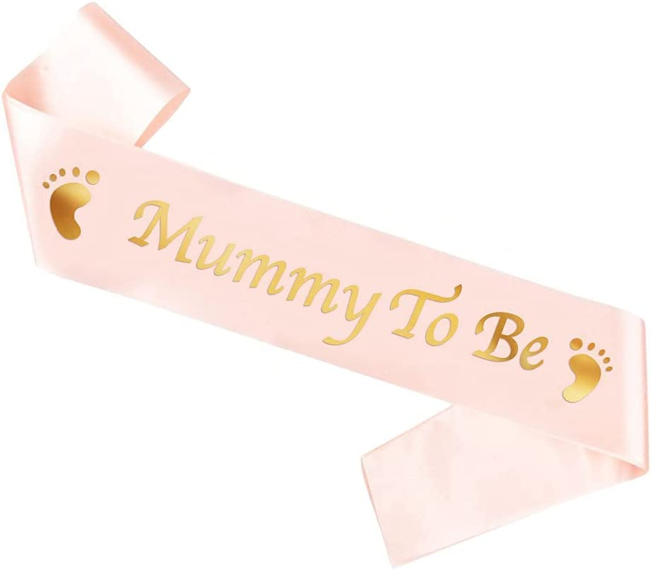 Mom to be sash - Mommy To Be Rose Satin Sash - Baby Shower Decorations, Gender Reveal, Welcome Baby, Baby Sprinkle, Baby Shower Sash, Mummy to be - Light Pink Baby Shower - Sash with Gold Glitter Lettering - MagicShop4u