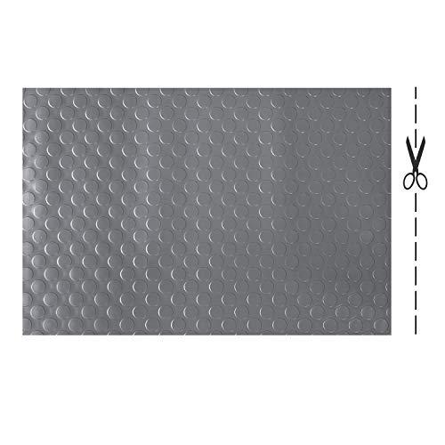 Olivo.shop - Copri pavimenti in gomma isolante su misura. Tappeto in PVC antiscivolo. Passatoia di gomma ammortizzante a metro per Industria. Vari Modelli e Misure. Design a Bolle (GRIGIO, 100x100cm)