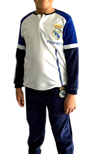 Pijama Real Madrid niño invierno terciopelo, talla 14