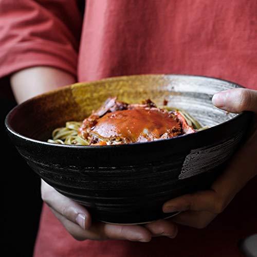 Gweat 7.5 Zoll Japanischen Stil Kreative Vintage Keramik Salatschüssel Persönlichkeit Ramen Tiefe Suppenschüssel