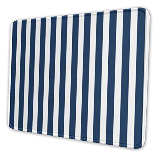Gaming-Mauspad mit rutschfester Unterseite, Cabana-Streifen in Marineblau und Weiß, geeignet für Gamer, Laptop, Büro und Zuhause, Schwarz, 25,4 x 30,5 cm