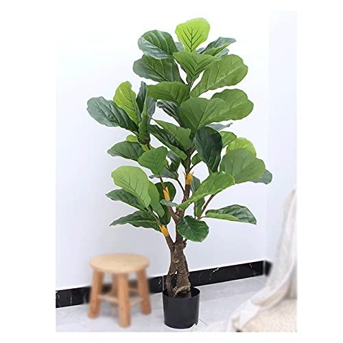 HONGFEISHANGMAO Bonsai Artificial La Planta en Maceta FICUS de 80 cm de ficus, Que no es fácil de Romper Tiene un Alto Grado de simulación, árbol Artificial, Verde. Plantas Falsas