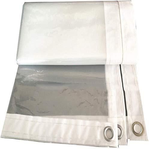 KAISIMYS Lona Transparente Cubierta de Lona Impermeable, Lona de Lona Transparente Transparente con Ojales Lona Gruesa Resistente a los Rayos UV a Prueba de roturas (Color: Transparente, Tamaño: 3x6m