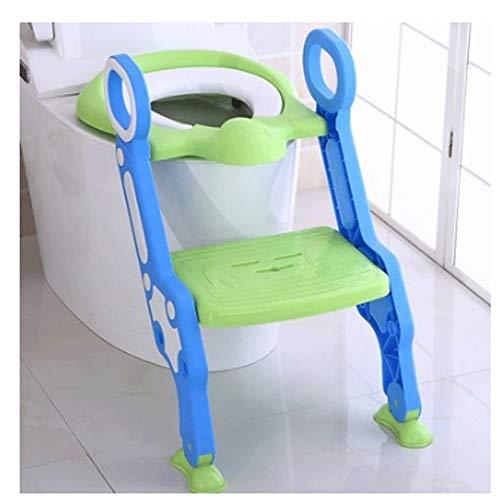 MinMin Potty Trainingsstoel voor kinderen Verstelbare Peuter Toilet Potty Stoel met Stevige Antislip Stap Krukladder, Comfortabele Handgrepen en Splash Guard Eenvoudig te monteren Toiletbril voor jongens en meisjes