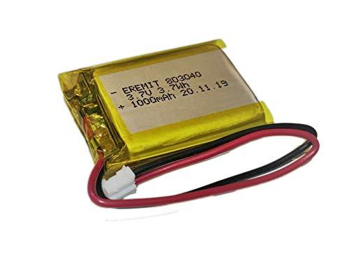 EREMIT Li Ion LiPo Batterie Akku 3.7 V 1000mAh 803040 1S JST-PH Stecker PCB N22