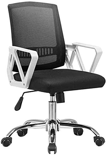 N&O Renovierungshaus Komfortabler Bürostuhl Erhöhender drehbarer Computerstuhl Faltbarer Netzsitz mit freier Funktion für Büro-Studentenwohnheim Nenntragfähigkeit: 150 kg Schwarz