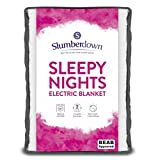Slumberdown Sleepy Nights Quilted Electric Blanket with 3 Heat Settings, King Size