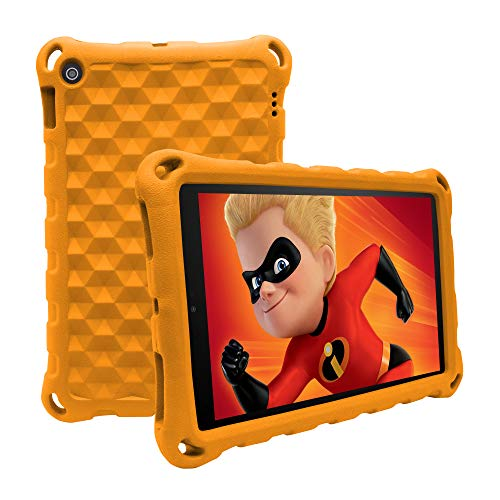 7 Tablet 2019 Case,ANTIKE Light Weight Shock Proof Handle Kids Friendly Convertible Stand Kids Case for 7 inch Display Tablet (2017 Release & 2019Release) (Orange)