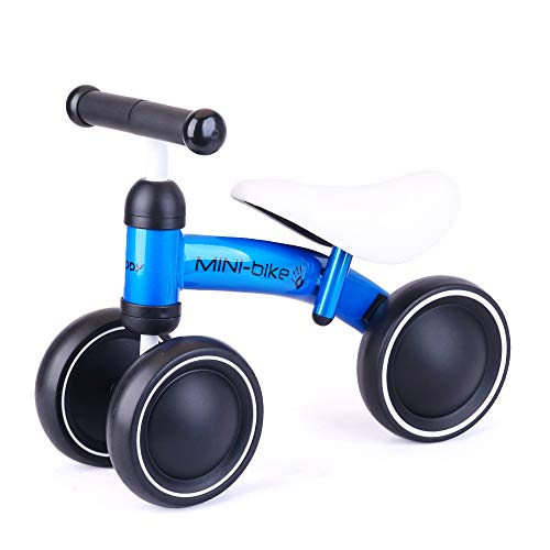 Baby Balance Bikes Bicycle for 1-2 Year Old Girl/Boy, Cycling Christmas Toy for Gifts Blue
