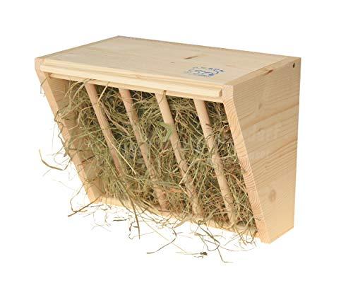 Resch Nr20 Heuraufe naturbelassenes Massivholz aus Fichte/mit aufklappbaren Deckel und Haken zum einfachen befestigen