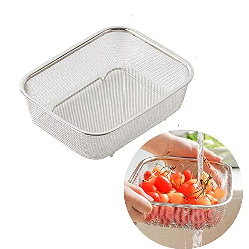 Cesta De Frutas De Acero Inoxidable Para FiltracióN Y Drenaje De Cocina Con Malla Fina Para Pasta De Cocina/Vegetales/Arroz/Frutas/Alimentos