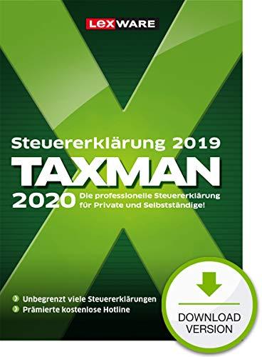 Lexware Taxman 2020 Download für das Steuerjahr 2019|Übersichtliche Steuererklärungs-Software für Arbeitnehmer, Familien, Studenten, im Ausland Beschäftigte