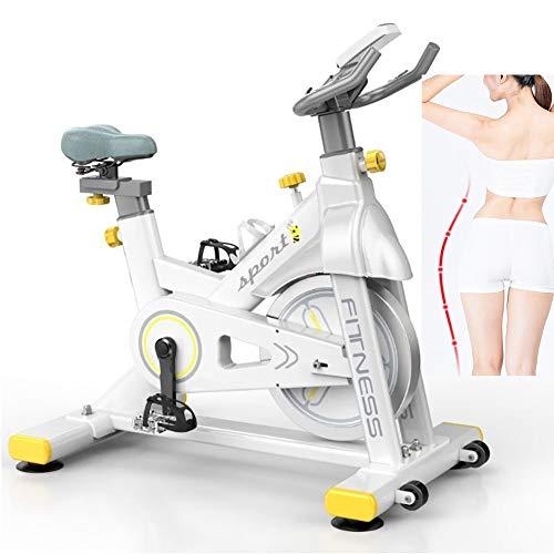 Hometrainers | Fitnessapparatuur Voor Thuis | Fitnessapparatuur | Met Tijd, Calorieën, Snelheid, Hartslag, Trainingsprogramma, Afstand, (Wit)