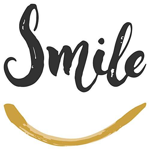 dekodino® Wandtattoo Spruch Smile Familien Wanddekoration