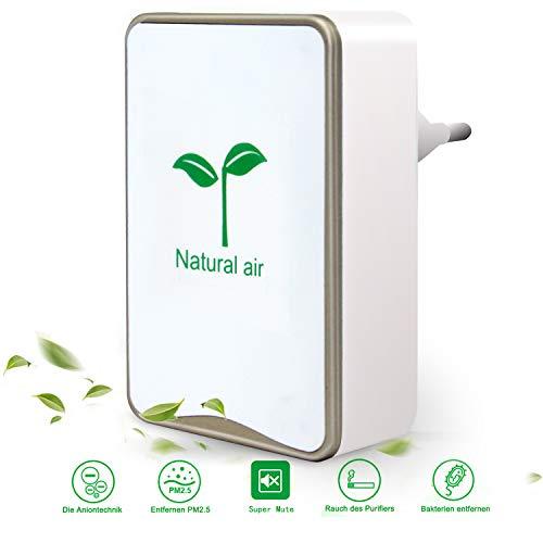 Luftreiniger,Tailiqi Plug-in-Luftreiniger,Air Purifier für Zuhause,Mini Luftreiniger mit Lonen Generator für Schlafzimmer Büro Küche Toilette,Haustiergeruch Zigarettenrauchgeruchsentferner