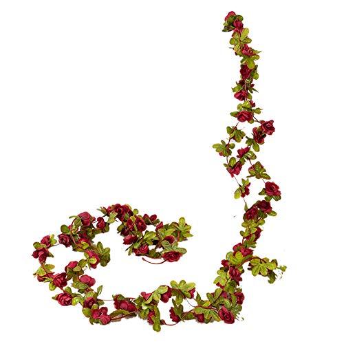 XJF 2 hojas artificiales de flores de seda, para decoración del hogar, fiesta, boda, jardín, 2 unidades