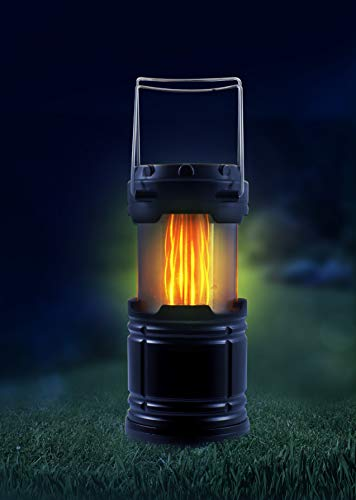 Led-lantaarn met twee verschillende lichtmodi, inklapbaar.