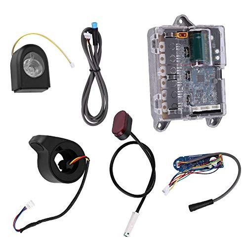 SolUptanisu Kit de Controlador para XIAOMI Scooter, Placa Base Placa de Bluetooth Faro Luz de Cola Acelerador Cable Kit de Reparación para Xiaomi Ninebot M365 Scooter Eléctrico Accesorios
