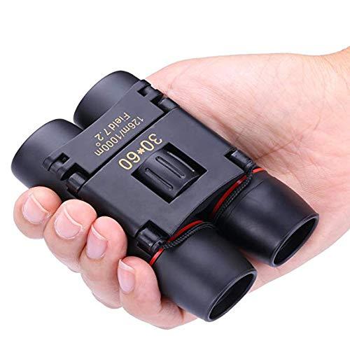Binoculars for Kids, 30x60 Compact Binoculars for Birding Wide Toys for 3-12 Year Old Boys Girls 2019 Christmas Toys for 3-12 Year Old Girls Boys Girls Stocking Fillers Black TG07