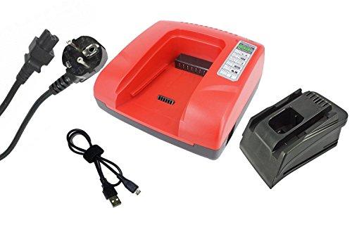 PowerSmart® 20-36V Cargador para Hilti C 4/36 de ACS, B 22/1.6, B 36/3.0, B 36/6.0, B22/2.6, B22/3.3, B36/3.9, AG 125 de A22, HDE - 500 de A22, SCM de 22 a, SCW de 22 a, SF de 22 a, SFC de 22 a, SFH 22-A, SFL de 22 a Box (rojo)