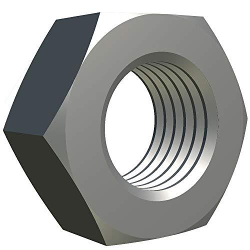 M6 Tuerca Hexagonal (Paquete De 100) Tuercas Hexagonales Con Acabado De Acero...
