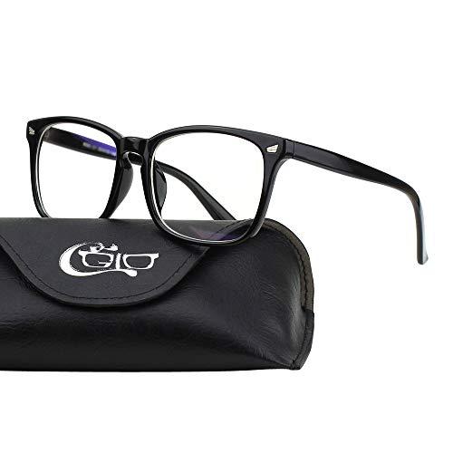 CGID BL82 Blaues Licht-blockierende Brille,Blaulicht brille Computerbrille Transparente Gläser Herren Damen