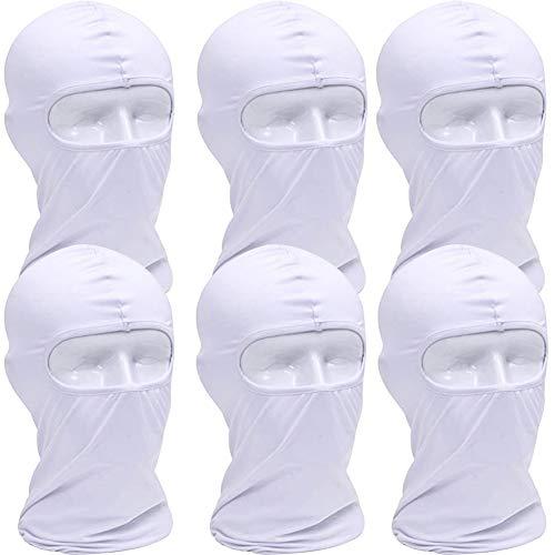 BESTZY 6 Pezzi Protezione UV Passamontagna Ciclismo Maschera Luce Sottile Tessuto Lycra Antivento Traspirante Sport Outdoor Full Face Mask pacchi Regalo