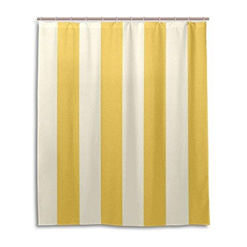 My Daily Einzigartige gelb & weiß Streifen wasserdicht Badezimmer Decor Polyester Duschvorhang 152,4x 182,9cm