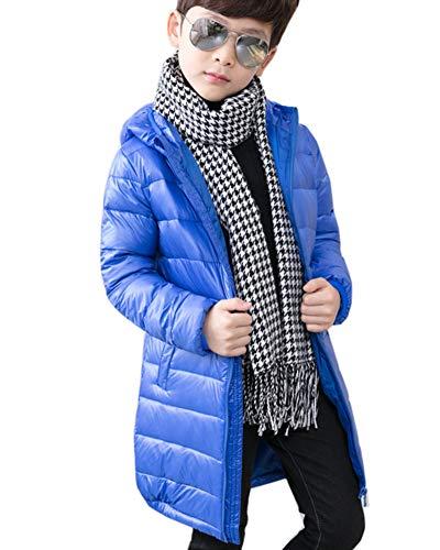 Aden Kinder Daunenjacke Ultraleicht Lange Jacke Winterjacke Jungen Mädchen Daunenmantel Wintermantel mit Kapuze
