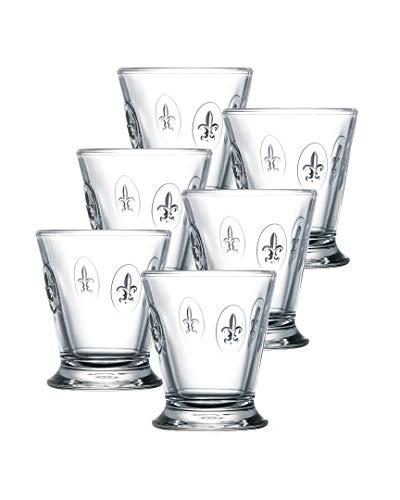 Lot de 6 Gobelet FLEUR DE LYS HAUTEUR 10 cm - La Rochère