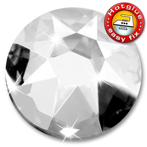 SWAROVSKI Kristalle 2078 XIRIUS Hotfix, Farbe Crystal, SS20, ca. 4,8 mm 100 Stück, Inkl. 1x ShineStone Wender/Positionierer