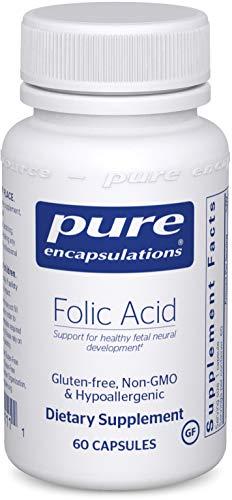 Pure Encapsulations - Folic Acid - Hypoallergenic Dietary Supplement - 60 Capsules
