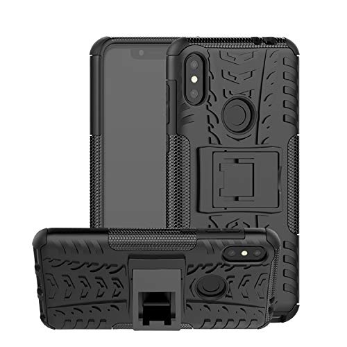 ShopByShop Motorola Moto One Power Kick Stand Cover Black Hard with Stand Back Cover for Motorola Moto One Power (Black)