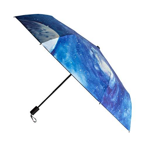 Yunyisujiao zonnescherm parasol vouwen UV bescherming Tri-vouw paraplu gift een knop schakelaar kleine vers