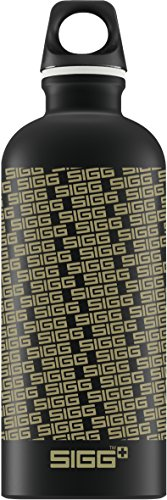 Sigg Logo Repeat Gourde Noir 0,6 L