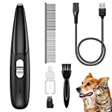 AMIR (2021 New) Dog Grooming Clippers, Electric Cordless Pet Hair Trimmer, 2 Speeds USB Rechargeable and Low Noise Pet Clippers for Pet's Hair Around Paws, Ears, Face, Eyes, Rump (for Small Pet)