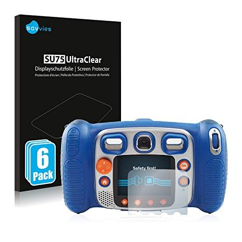 savvies Protector Pantalla Compatible con Vtech Kidizoom Duo 5.0 (6 Unidades) Película Ultra Transparente