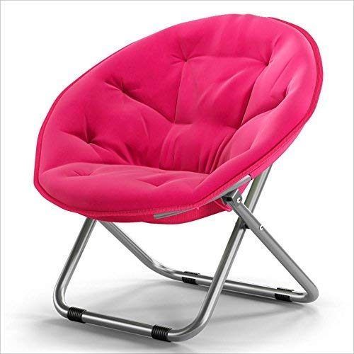 Unbekannt Liegestuhl Gartenliege Klappstuhl Mond Stuhl Haushaltsstuhl Haushalt Fauler Sofaliege Balkon Sessel Optional (Farbe, Schwarz),Rosa