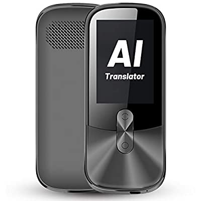 ANFIER Voice Translator Device with 2.4 inch Touchscreen Two-Way Electronic Translator Device (W02), AI Real-time Translator Device with Recording, 108 Languages |Wi-Fi| by ANFIER