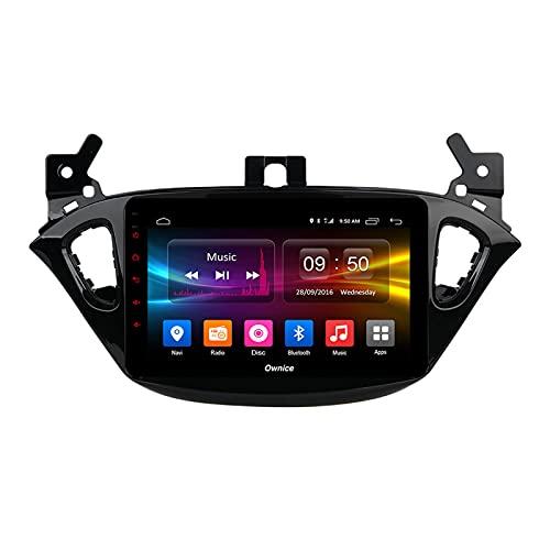 Android 10.0 Car Stereo per Opel Corsa 2015-2019 / Adam 2013-2016 Navigazione GPS 2 Din Head Unit Radio 9 '' Multimedia Video Player Ricevitore Tracker con 4G WiFi SWC DSP Carplay,4core wifi 1+16gb