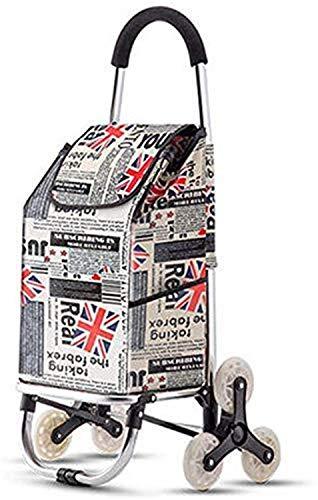 KEKEYANG Compras Tri-Rueda Plegable Carrito de la Compra Ligera Subir escaleras Compras con extraíble Bolsa de Almacenamiento Impermeable for la Cubierta del Recorrido al Aire Carro