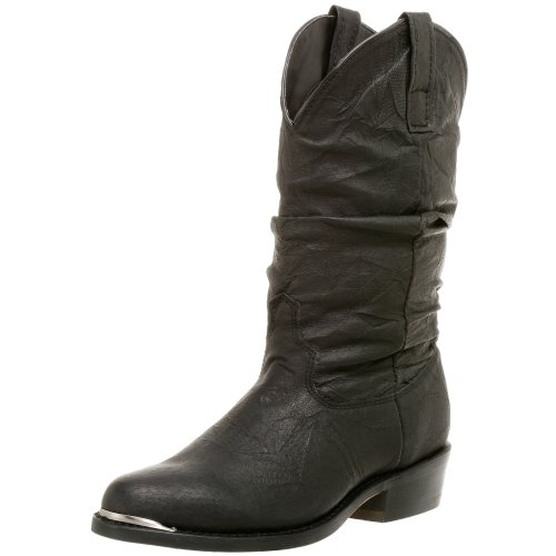 Dingo Mens Amsterdam Cowboy Boots Leather Black 10.5 EW