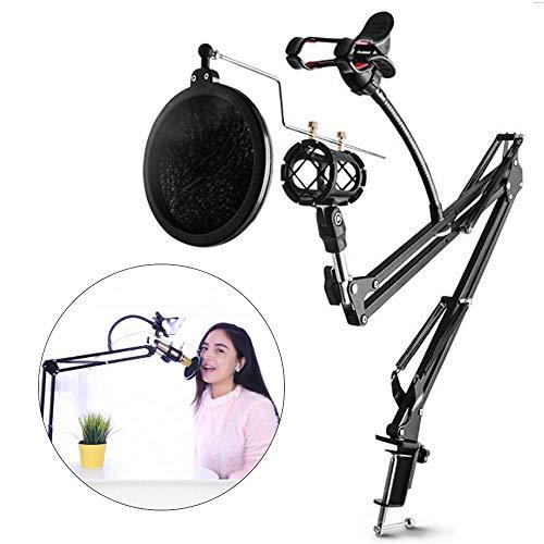 Perfessional Microfoon Schaar Arm Stand Mic Clip Houder En Tafel Montage Klem Metalen Mount Kits