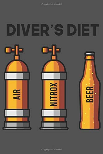 Diver's Diet | Air Nitrox Beer: Tauchen Geschenk Für Taucher Tauchsport Dina5 Liniert Notizbuch Tagebuch Planer Notizblock Kladde Journal Strazze