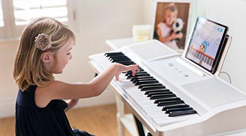 The ONE Smart Piano Keyboard with Lighted Keys, Electronic Piano 61 Keys, Electronic MIDI Keyboard, Home Digital Music Keyboard, Teaching Portable Keyboard Piano, Onyx Black