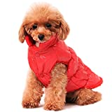 """Beirui Cold Weather Dog Coats for Small Dogs Cats - Warm Dogs Jackets with Soft Fleece - Windproof Waterproof Pet Clothes for Small Dogs Teddy Poodle Chihuahua, Yorkshire (8.5"""" Back)"""