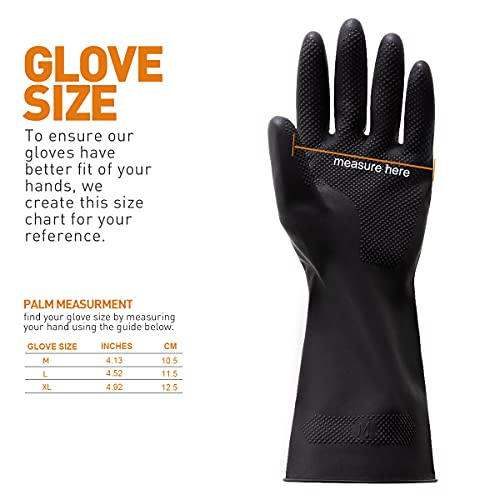 Product Image 7: ThxToms Dishwashing Gloves, 3 Pairs Reusable Latex Cleaning Gloves for Housework, Kitchen, Bathroom, Extra Large