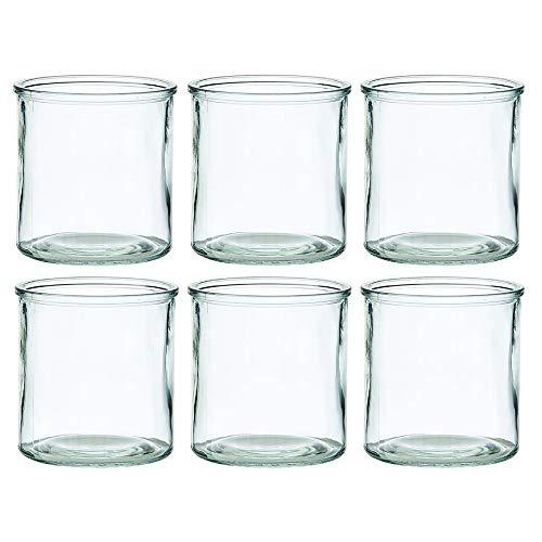 Annastore Windlichter aus Glas in klassischer Zylinderform H 10 cm - H 12 cm oder H 15 cm - Kerzenglas und Teelichtgläser für viele Dekorationen